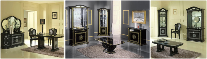 Black-italian-dining-furniture-set