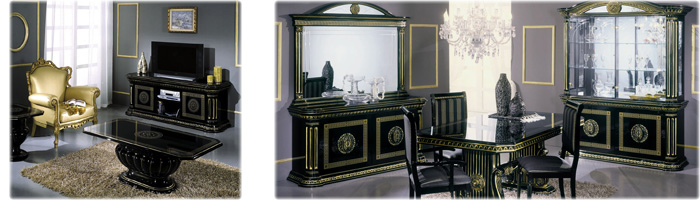 Black-italian-dining-furniture-sets