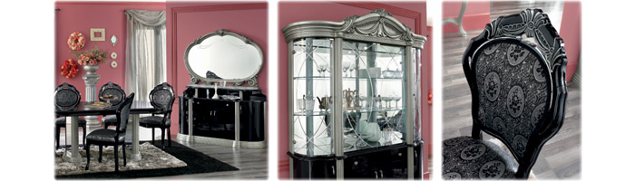 black-silver-italian-furniture
