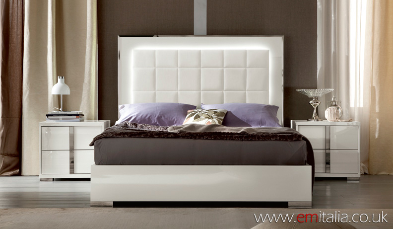 white high gloss bedroom furniture set